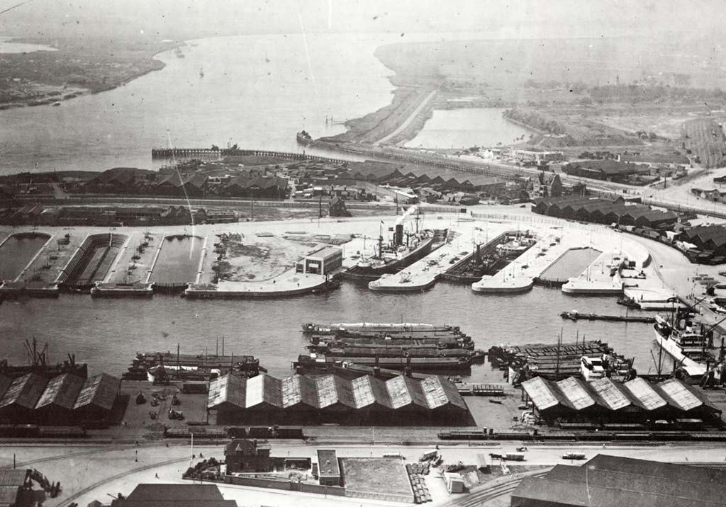 The port of Antwerp